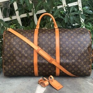 💯LV Keepall Bandouliere 60 •W/STRAP & ACCESSORIES